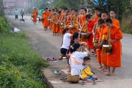 Tak Bat: Lao Monks' Morning Alms